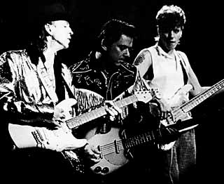 Family style: Stevie Ray Vaughan with brother Jimmie and Preston