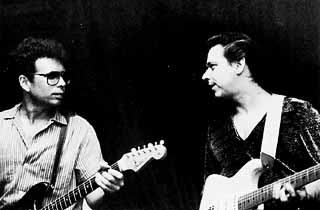 Derek O'Brien and Jimmie Vaughan, 1985