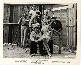 Cast and crew of John Huston's