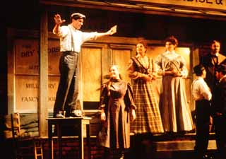 John McVeigh, as Will Tweedy, and the company of the Houston Grand Opera production of <i>Cold Sassy Tree</i>