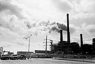 Alcoa Plant, Rockdale (an hour northeast of Austin), the state's single largest point source of grandfathered emissions: more than 100,000 tons a year. Former Alcoa chairman Paul O'Neill is George W. Bush's nominee for secretary of the Treasury.
