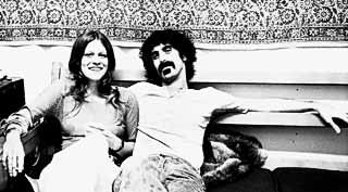 Frank Zappa (and Melissa) backstage at the Armadillo, 1971