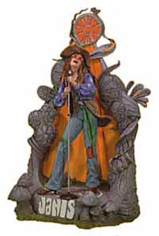 The Janis Joplin doll from <i>Spawn</i> creator Todd McFarlane's  McFarlane Toys