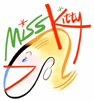 The one and only Miss Kitty's new logo was designed by her uncle, the one and only Bob Staake, who has won many awards for his <i>New Yorker</i> covers.