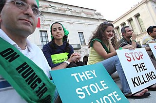 Supporters of those involved in protests of recent election results in Iran, which have led to the arrests of hundreds of activists claiming electoral fraud, staged a hunger strike last week on the south steps of the UT Tower. The demonstration lasted three days as part of similar strikes across the U.S.