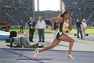 Texas ex Sanya Richards, world champion in the 400 meters and 4x400 meters relay