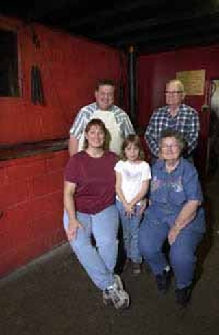 Front: Sherry, Ashley, and Wilma Inman