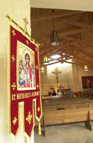 At St. Michael's new chapel, Mass is celebrated daily and required weekly for students.