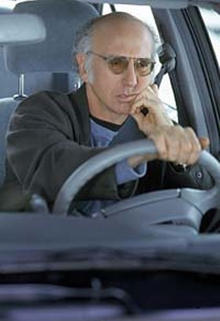 Larry David is trying to curb his enthusiasm over having to sit through another freakin' awards show.