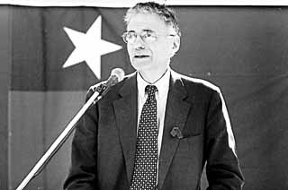 Ralph Nader at last year's Austin rally during his presidential campaign