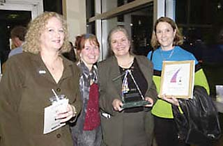 Sharron Rush (third from left) was rewarded for her community service at SXSW Interactive.