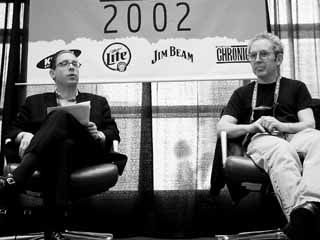 <i>Texas Monthly</i>'s Evan Smith (l) interviews author Peter Guralnick