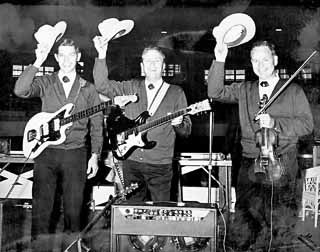 Mad Hatters: Johnny Gimble (r) with Rex Allen's Men of the West, circa 1963-64