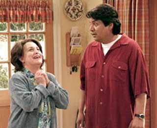 Comedian George Lopez and Belita Moreno star in ABC's new sitcom<i> The George Lopez Show</i>.