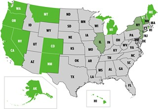 States With Medi-Pot Laws: In the 13 states where the medicinal use of marijuana is legal, federal law enforcement will no longer interfere with legal marijuana use.<p>