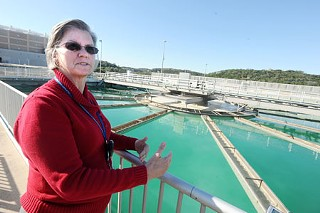 The Austin Water Utility's Jane Burazer, at Ullrich Water Treatment Plant