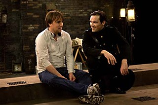 Director Richard Linklater (l) with actor Ben Chaplin