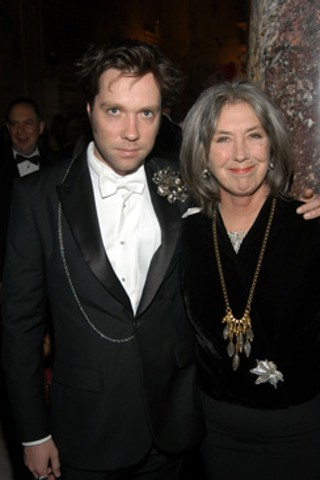 Rufus Wainwright and Kate McGarrigle at a benefit for the Strang Cancer Prevention Center in New York in 2008.