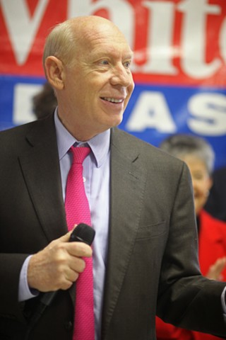 Democratic gubernatorial hopeful Bill White opened his Austin campaign office Jan. 16 on West 13th Street.
