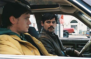 Nathan Harlan (l) and Mark Reeb in John Bryant's road comedy,<i>The Overbrook Brothers</i>