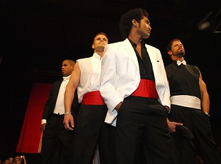 Male models from Sue Webber in the James Bond finale at Viva