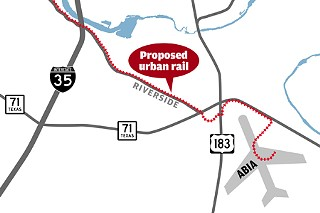 City aims to direct population growth along rail lines, such as the proposed line along East Riverside.