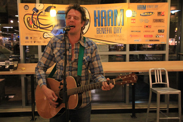 Scrappy Jud Newcomb at Whole Foods Market on HAAM Benefit Day, October 2, 2012