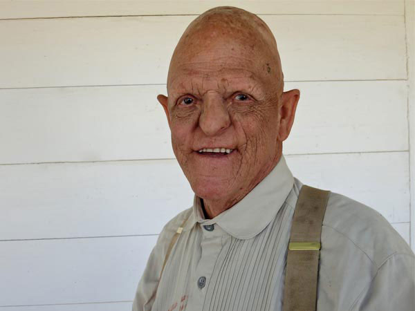 You know the face from films including One Flew Over the Cuckoo's Nest, Weird Science and The Hills Have Eyes: Michael Berryman on the set of Red On Yella, Kill A Fella. A nice, articulate and gentle man who owns a walnut farm in Northern California.
