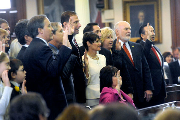 Opening day of the 83rd Texas Legislature
