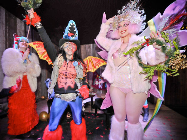 Shari and the Krewe du Bisoux present 12th Night Austin's first ever King and Queen: Long live Gina and Kitty