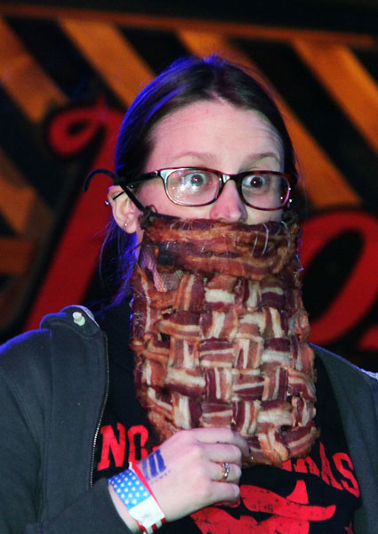 A beard of bacon competes in the Girls category