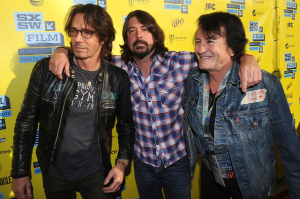 Rick Springfield (l), Dave Grohl and Lee Ving