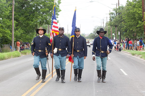 The Buffalo Soldiers open the Juneteenth Parade in East Austin, June 15, 2013, in celebration of the emancipation of slavery in Texas in 1865.