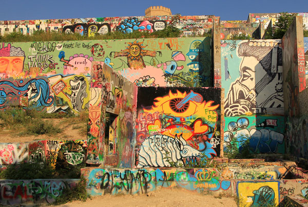 Best Public Art: Graffiti Park on Baylor at Castle Hill