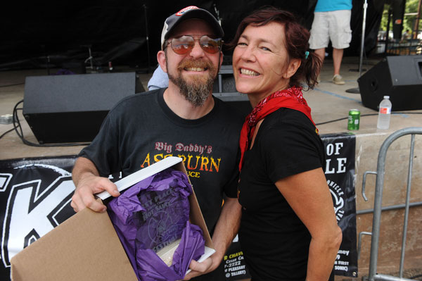 Commercial Bottler pepper sauce winners Trevi and Becky Biles of Big Daddy's Hot Sauces