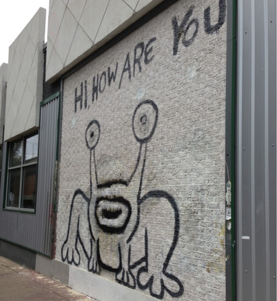 Thai how are you landmark daniel johnston mural gets a for Daniel johnston mural
