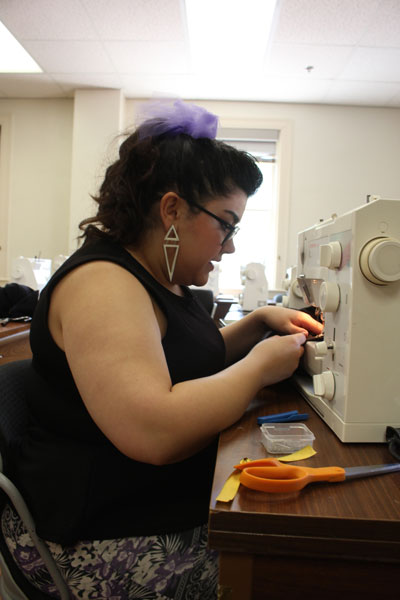 This week's Good Eye caught up with some of the student designers participating in the UT Spectrum Fashion Show, which launches Austin Fashion Week. Only moments before their senior critique, some of them – like Mercedes Contreras, pictured here – were still hard at work on the finishing touches.Follow our coverage of Austin Fashion Week, featuring daily event recommendations online at Chronique.Back to column.