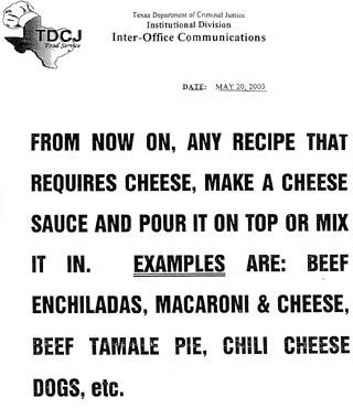 Fine Prison Dining: The Cheese (and Bacteria) Come a la Carte