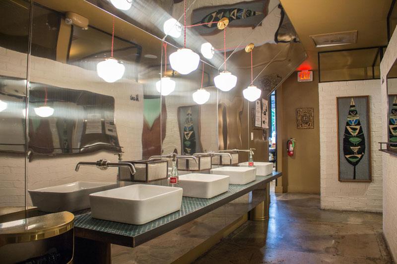 CREDIT: Montinique Monroe. Austin Restaurant Bathroom Design