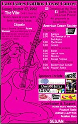 Best Concert Poster: Bass Babes Battling Breast Cancer by Angela Crosby; The Vibe, Oct. 27