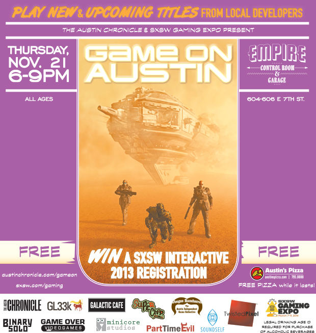 Click me for a PDF version of the Game On Austin poster!