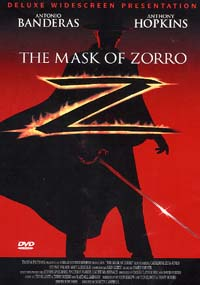 DVD cover for Mask of Zorro