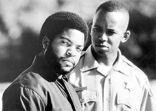 Ice Cube (l) and Michael Boatman in The Glass Shield